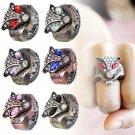 Hot Women UNISEX Creative Fashion Retro Owl Finger Watch Clamshell Ring Watch
