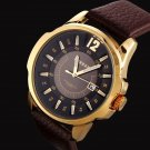 CURREN Men's Cool Military Sport Quartz Analog Genuine Leather Strap Wrist Watch