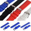 4 Colors 20/22/24mm Silicon Wrist Watch Band Strap for Sport Watch Mens Unisex