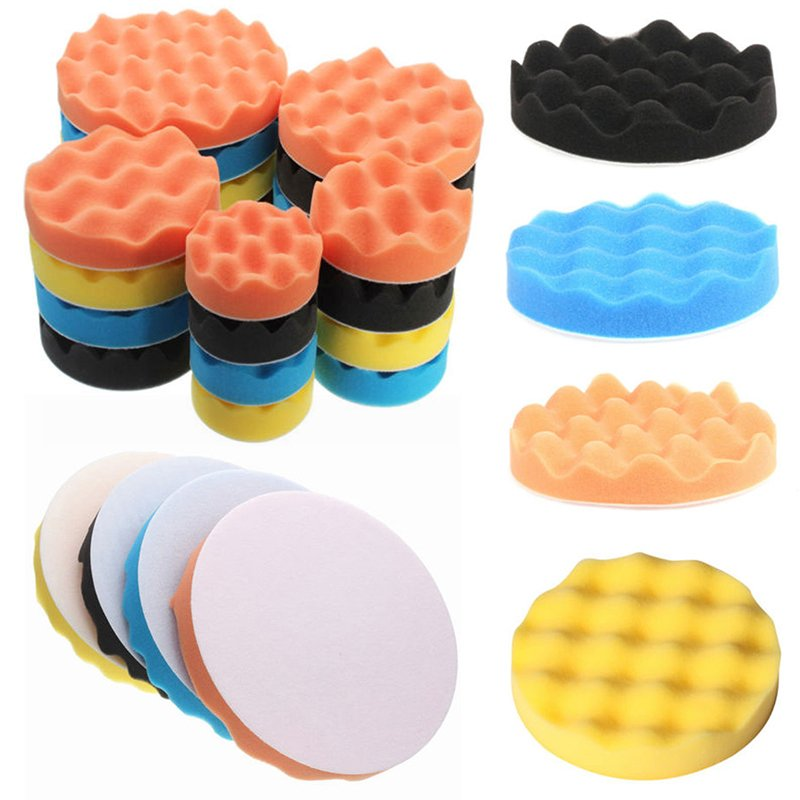 "4pcs 3""/4""/5""/6""/7"" Waffle Polishing Foam Buffing Pad Kit for Car Polisher"