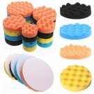 "4pcs 3""/4""/5""/6""/7"" Waffle Polishing Foam Buffing Pad Kit for Car Polisher"