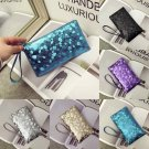 New Women Bling Clutch Leather Handbag Key Phone Purse Ladies Wallet Card Holder
