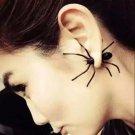 1Pc New Hot Fashion European Halloween Black Spider Charm Ear Stud Earrings