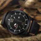 NAVIFORCE Mens Analog Quartz Casual Leather Wrist Watch Date Week Military Army