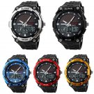 SKMEI Men's sports Watch Solar Power Analog Digital Waterproof Wristwatch