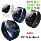 M26 Waterproof Bluetooth Wrist Smart Watch Phone Mate For Android iOS Phone