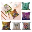 "Throw Decorative 18"" Cotton Linen Dream Catcher Cushion Cover Pillow Case"