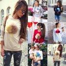Women Ice Cream Long Sleeve Hoodie Sweatshirt Jumper Sweater Pullover Coat Tops