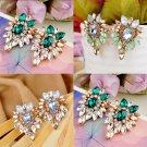 Women Fashion Lady Girls Elegant Crystal Rhinestone Ear Stud Earrings Jewelry