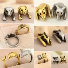 1 PC Hot Cute Pet Antique Vintage Animal Gift Puppy Wrap Adjustable Dog Ring