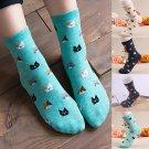 New Women's Ladies Lovely Cute Cat Print Socks Animal Socks Cotton Comfortable