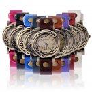 Women Retro Cat Case Faux Leather Band Quartz Analog Wrist Watch