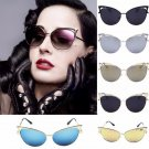 Fashion Women Lady Gold Cat Eye Sunglasses Retro Classic Designer Vintage Shades