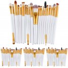 Makeup 20PCS White Brushes Set Eyeliner Eyeshadow Lip Brush Powder Foundation