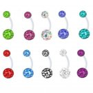 BIOFLEX BARBELL BALL BELLY NAVEL RING PREGNANCY BUTTON PIERCING 14G