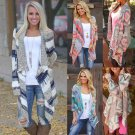 Boho Womens Ladies Long Sleeve Knitted Cardigan Sweater Outwear Jacket Coat Tops