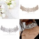 Vintage Flowers Crystal Choker Collar Chunky Bib Statement Pendants Necklace NEW