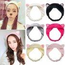 Women Men Beauty Cute Cat Ear Hair Band Wash Makeup Headband