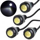4pcs 1.5W T8 LED 12V Hidden Car Eagle Eye 10mm Screw Bolt on Light Bulb White