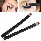 2in1 Black Portable Mini Eyebrow Brush Eyeshadow Makeup Cosmetic Brushes Set
