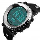 Fashion Men Big Face Rubber Digital LED Date Army Waterproof Sport Wrist Watch