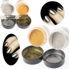 10g/box Gold/Silver Mirror Nail Glitter Powder Gorgeous Nail Art Chrome Pigment