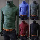 Mens Thermal Cotton Turtle Neck Skivvy Turtleneck Sweaters Stretch Shirt