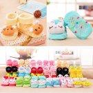 Cartoon Cute Baby Girl Boy Anti-slip Socks Slipper Socks Shoes Boots 6-18 Months