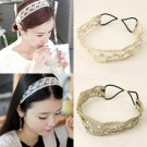 Lace Pearl Headhand Hairband Head Band Wrap Women Girl Fashion Hair Accessories