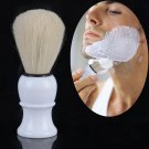 Men Vintage Plastic Handle Hair Shave Shaving Bristle Brush Faux  Tool New