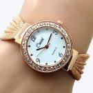 Stylish Women Bangle Bracelet Stainless Steel Crystal Dial Quartz Wrist Watch
