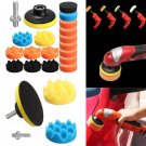 "19pcs 3"" 80mm Sponge Car Foam Polishing Buffing Pad Kit Set for Car Polisher"