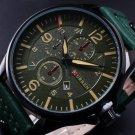 CURREN Men Fashion Military Leather Strap Analog Date Sport Quartz Wrist Watch