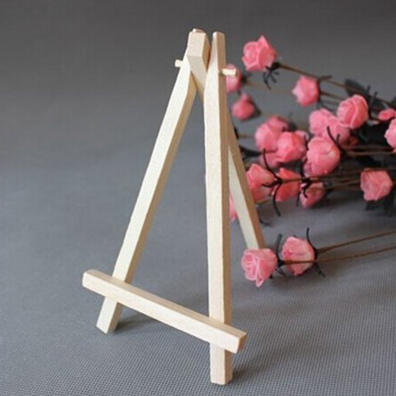 10pcs Wooden Mini Art Holder Artwork Display Table-Top Easels Drawing Boards