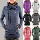 Women Pocket Hooded Sweatshirt Long Sleeve Hoody Hoodie Pullover Jumper Coat Top