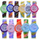 Colorful Men Women Silicone Strap Geneva Jelly Quartz Sports Analog Wrist Watch