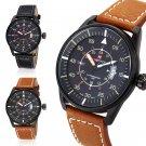 NAVIFORCE NF9044 Men Quarz Watch Analog Wristwatch Date Watches PU Strap
