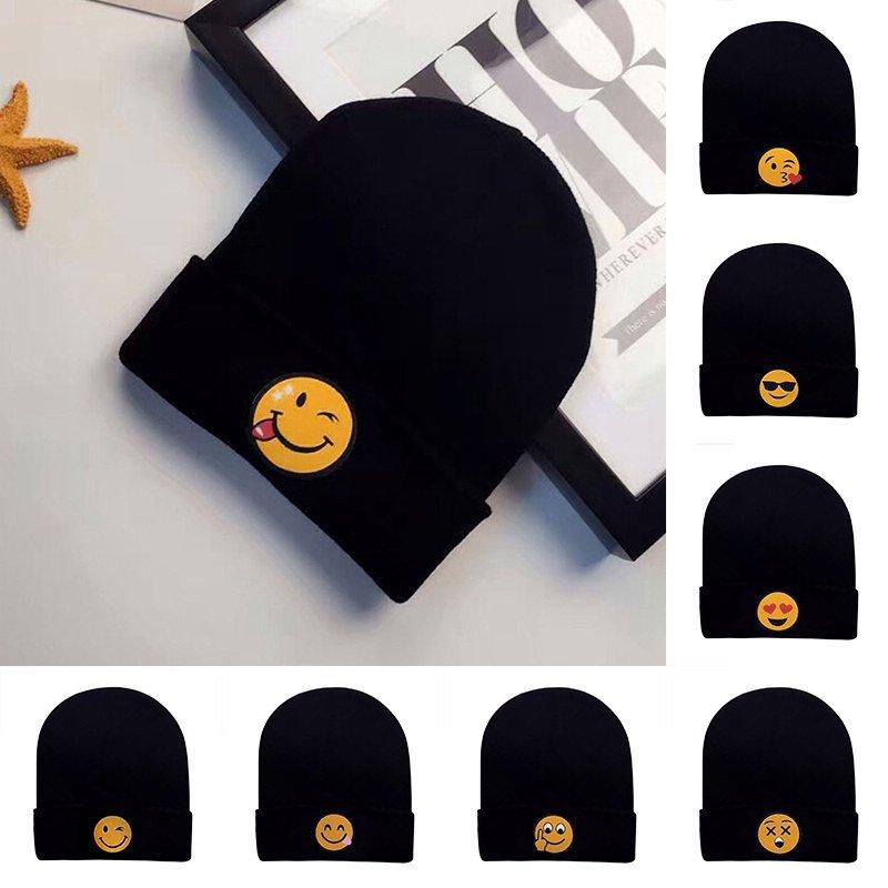 Chic New Women's Men's Emoji Beanie Knit Ski Cap Hip-Hop Winter Warm Unisex Hat