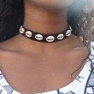 BOHO Leather Cowrie Shell Choker Necklace Bib Statement Charm Pendant Jewelry
