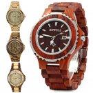 BEWELL ZS Wooden Watch Men Quartz Luminous Hands Zebra wood Watch Xmas Gift