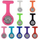 Cute Design Silicone Nurse Watch Brooch Fob Pocket Tunic Quartz Movement Watch