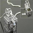 3D Doctor Who TARDIS Police Box Pewter Tall Long Chain Pendant Necklace Gift