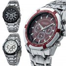 CURREN Men Fashion Military Stainless Steel Analog Date Sport Quartz Wrist Watch