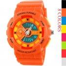 Luxury Women Men Digital Analog Date LED Silicone Waterproof Sport Wrist Watches