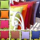 "18""x18"" Silk Fabric Cushion Cover Home Sofa Decor Throw Pillow Case Pure Color"