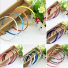 10pcs 1mm Plastic Fashion Candy Colors Headband Skinny Thin Hair Band Hairpin