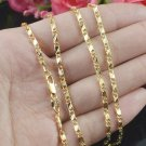 18K Yellow Gold Filled Cuban Link Chain Stainless Steel Wholesale