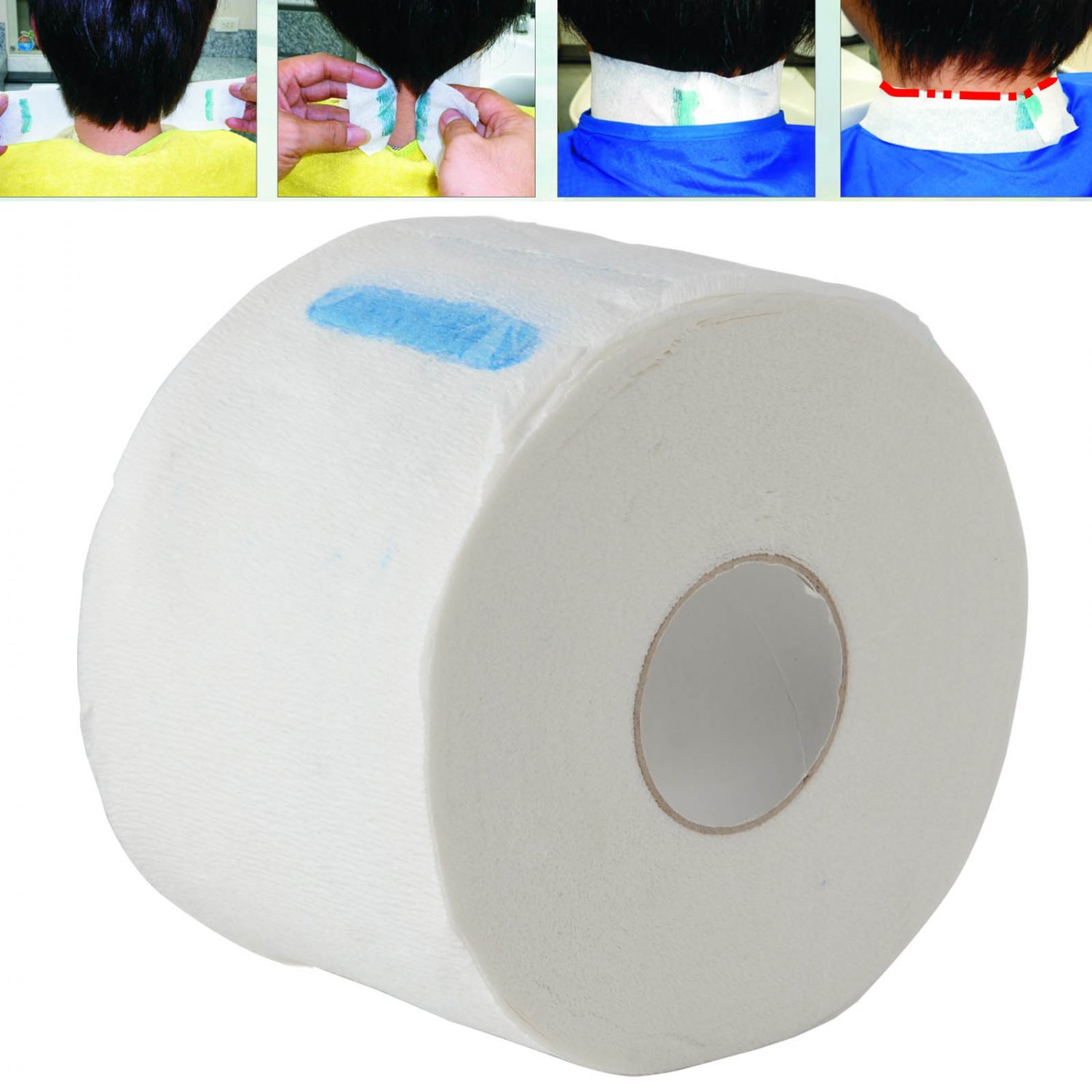 1pc Pro Stretchy Disposable Neck Paper for Barber Salon Hairdressing New