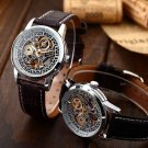 Luxury Men Skeleton Leather Band Mechanical Automatic Analog Wrist Sport Watches