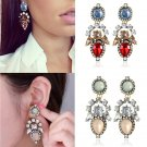 Fashion Women Crystal Rhinestone Stud Ear Dangle Charm Earrings Jewelry Gift